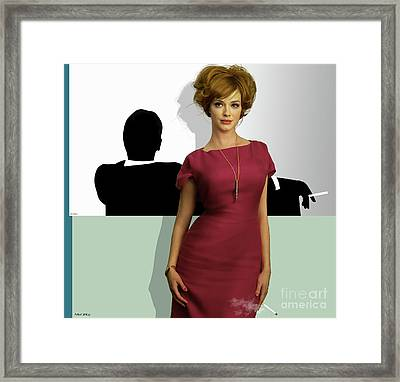 Joan Holloway, Mad Men, Don Draper Graphic Print, Sterling Cooper Pryce Framed Print by Thomas Pollart