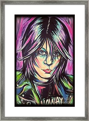 Joan Jett Framed Print by Amy Belonio
