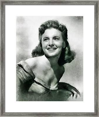 Joan Leslie, Actress Framed Print by John Springfield