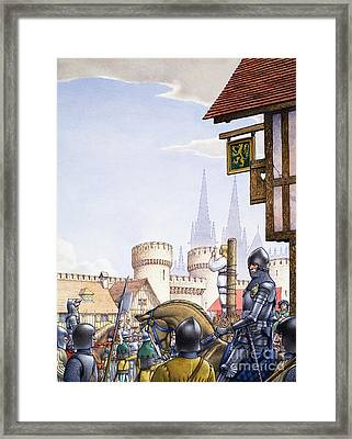 Joan Of Arc Burned At The Stake Framed Print