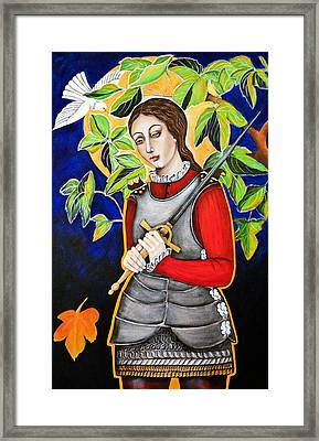 Joan Of Arc Framed Print by Christina Miller