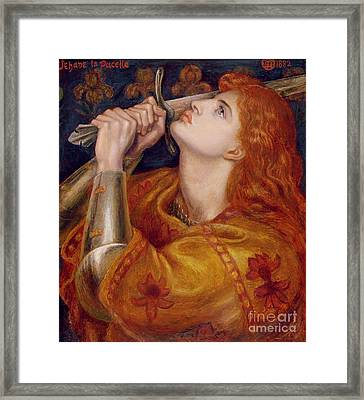 Joan Of Arc Framed Print by Dante Charles Gabriel Rossetti