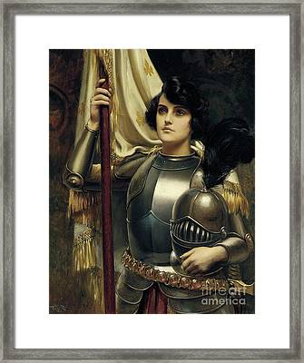 Joan Of Arc Framed Print by Harold Hume Piffard