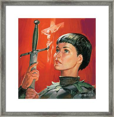 Joan Of Arc Framed Print by James Edwin McConnell