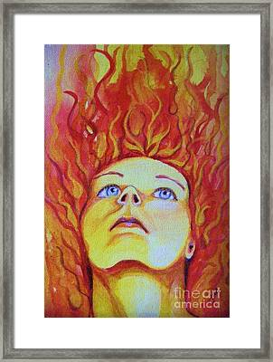 Joan Of Arc Framed Print by Jean LeBaron