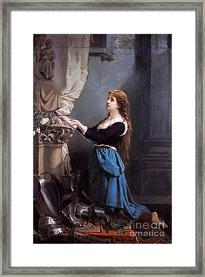 Joan Of Arc  Framed Print by Photo Researchers