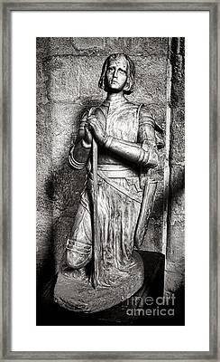 Joan Of Arc Sculpture Framed Print by Olivier Le Queinec