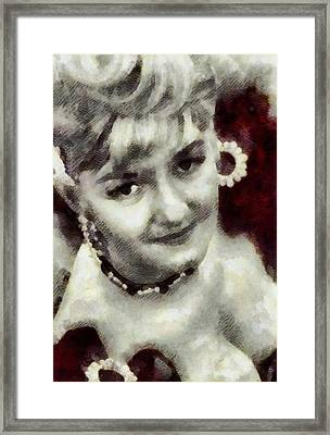 Joan Sims, Carry On Actress Framed Print by John Springfield