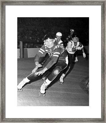Joan Weston Foreground, Athlete Framed Print