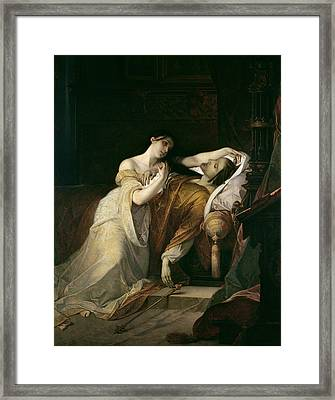 Joanna The Mad With Philip I The Handsome Framed Print by Louis Gallait