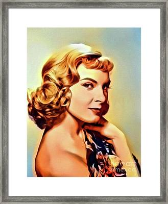 Joanne Woodward, Vintage Actress. Digital Art By Mb Framed Print by Mary Bassett