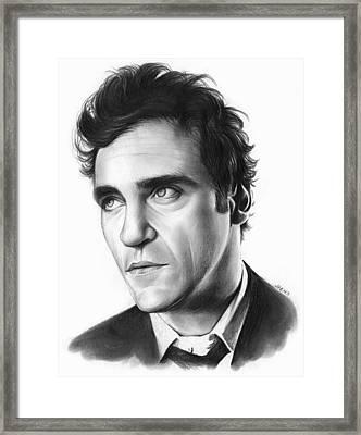 Joaquin Pheonix Framed Print by Greg Joens