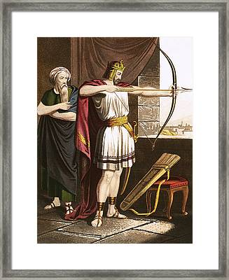 Joash Shooting Arrows At The Command Of Elisha Framed Print