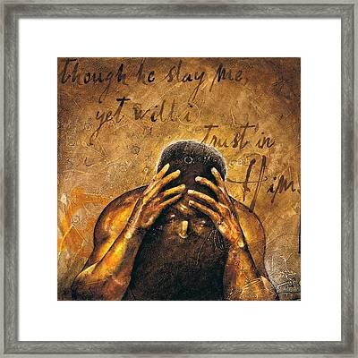 Framed Print featuring the painting Job by Christopher Marion Thomas