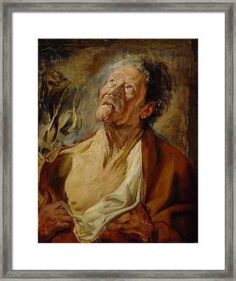 Job Framed Print by Jacob Jordaens