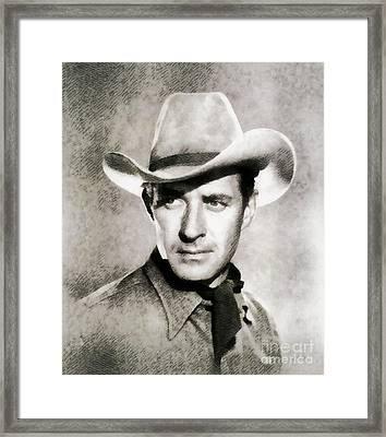 Jock Mahoney, Vintage Actor By John Springfield Framed Print