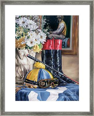 Jockey Still Life Framed Print