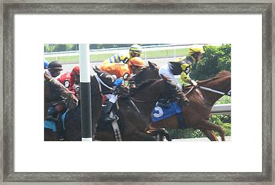Jockeying For Position Framed Print by Ian  MacDonald