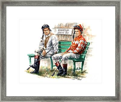 Jockeys Only Framed Print