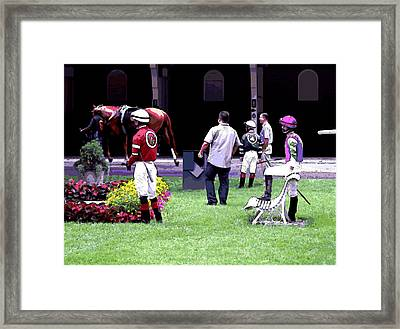 Framed Print featuring the digital art Jockeys Painting by  Newwwman
