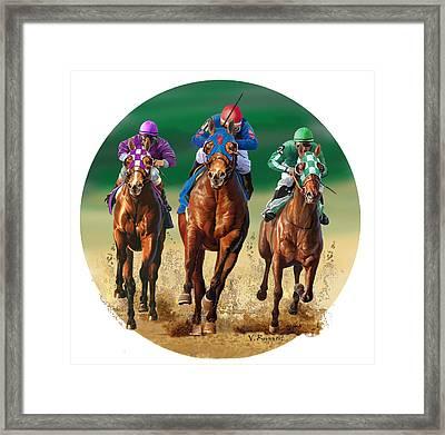 Jockeys Framed Print by Valer Ian
