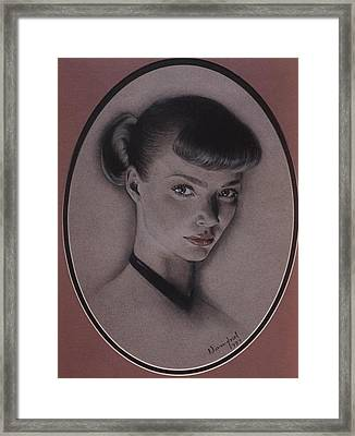 Jodie Kidd Framed Print by Nanybel Salazar