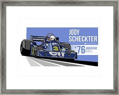 Jody Scheckter - 1976 Anderstorp Framed Print by Evan DeCiren