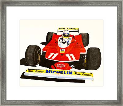 Jody Scheckter's 312t Framed Print by Robert Quisenberry