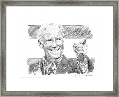 Joe Biden Framed Print by Shawn Vincelette
