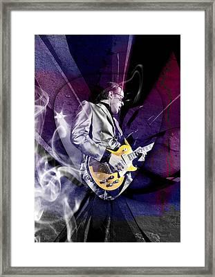 Joe Bonamassa Art Framed Print by Marvin Blaine