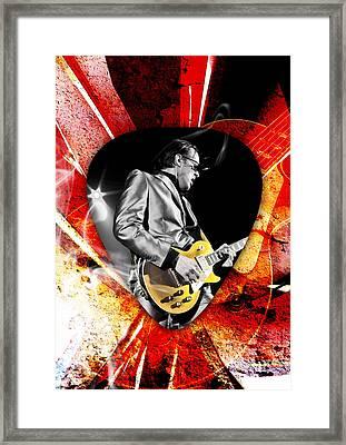 Joe Bonamassa Blue Guitar Art Framed Print by Marvin Blaine