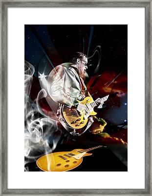 Joe Bonamassa Blue Guitarist Framed Print by Marvin Blaine