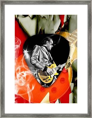 Joe Bonamassa Blues Guitar Art Framed Print