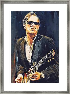 Joe Bonamassa Concert Framed Print by Yury Malkov