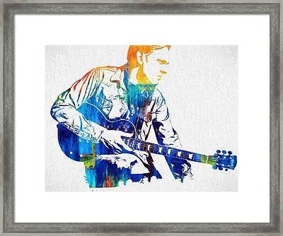 Joe Bonamassa Framed Print by Dan Sproul
