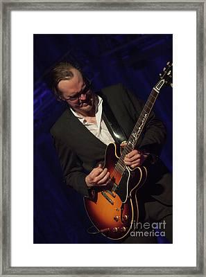 Joe Bonamassa - Guitar Solo In Minneapolis 1 Framed Print by Jim Schmidt MN