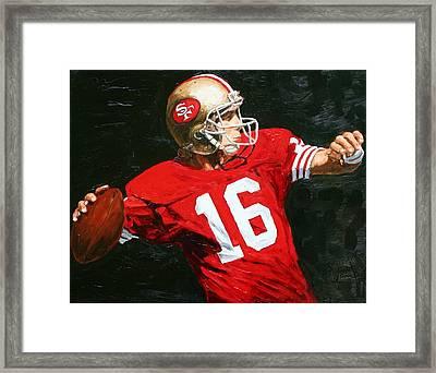 Joe Cool Framed Print by Rudy Browne