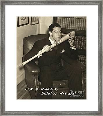 Joe Dimaggio (1914-1999) Framed Print