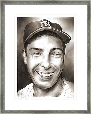 Joe Dimaggio Framed Print by Greg Joens