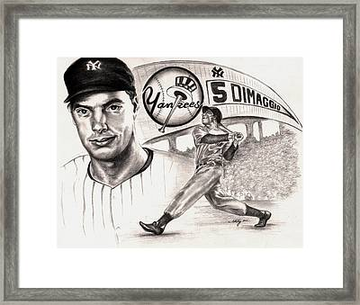 Joe Dimaggio Framed Print by Kathleen Kelly Thompson