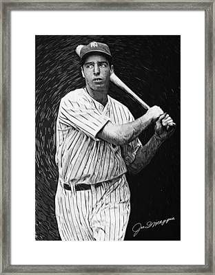 Joe Dimaggio Framed Print by Taylan Apukovska