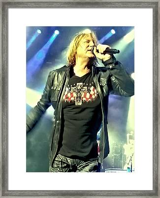Joe Elliott Of Def Leppard Framed Print by David Patterson