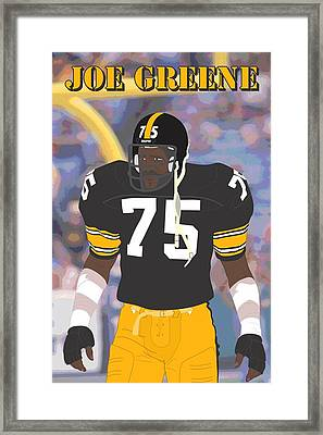 Joe Greene - Pittsburgh Steelers - 1978 Framed Print by Troy Arthur Graphics