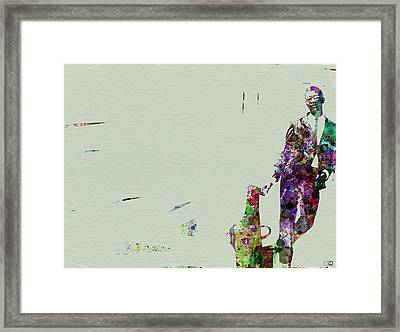 Joe Henderson Watercolor 2 Framed Print by Naxart Studio