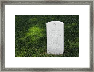 Joe Kennedy Is With His Brothers In Arlington Framed Print by Cora Wandel