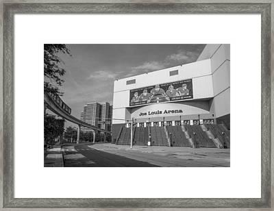 Joe Louis Arena Black And White  Framed Print