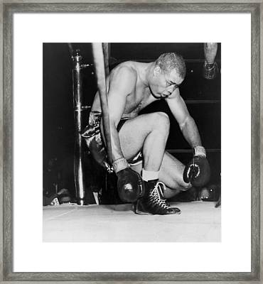 Joe Louis Last Professional Boxing Framed Print by Everett