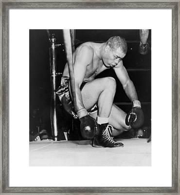 Joe Louis Last Professional Boxing Framed Print