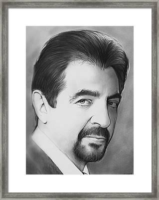 Joe Montegna Framed Print by Greg Joens