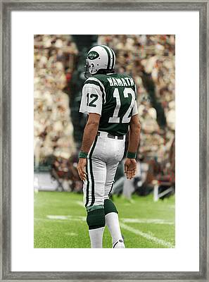 d1ca8c3f5 Joe Namath New York Jets 1975 Framed Print